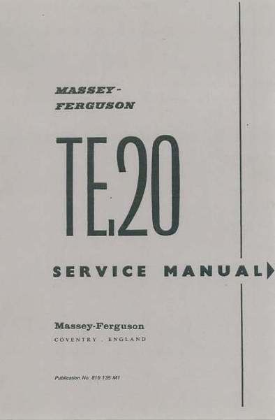 Ferguson Diesel Tractor TEF 20 Operators Parts & Workshop